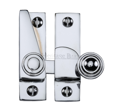 Heritage Brass Hook Plate Sash Fastener (69mm x 20mm), Polished Chrome - V1104-PC