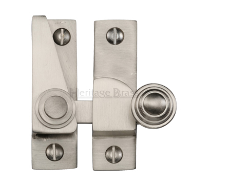 Heritage Brass Hook Plate Sash Fastener (69mm x 20mm), Satin Nickel - V1104-SN