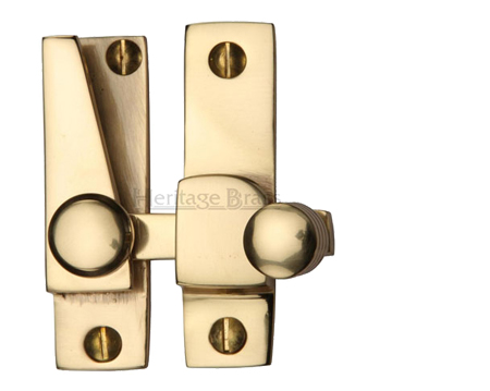 Heritage Brass Hook Plate Sash Fastener (69mm x 20mm), Polished Brass - V1105-PB
