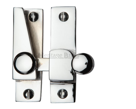 Heritage Brass Hook Plate Sash Fastener (69mm x 20mm), Polished Chrome - V1105-PC