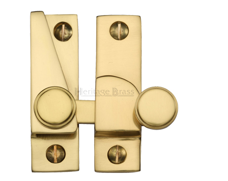 Heritage Brass Hook Plate Sash Fastener (69mm x 20mm), Polished Brass - V1106-PB