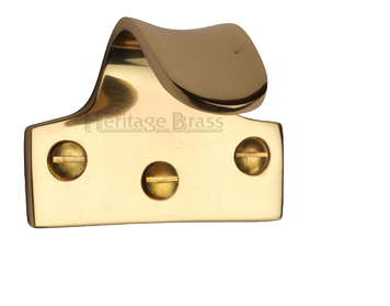 Heritage Brass Sash Window Lift (54mm x 42mm), Polished Brass - V1110-PB
