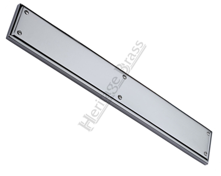 Heritage Brass Large Raised Finger Plate, Polished Chrome - V1166-PC