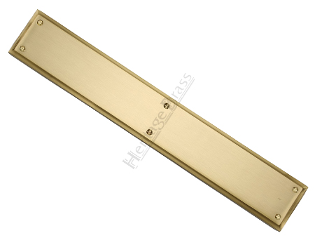 Heritage Brass Large Raised Finger Plate, Satin Brass - V1166-SB