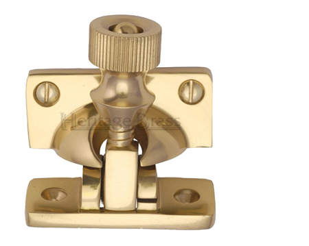 Heritage Brass Brighton Sash Fastener (58mm x 23mm), Polished Brass - V2055-PB