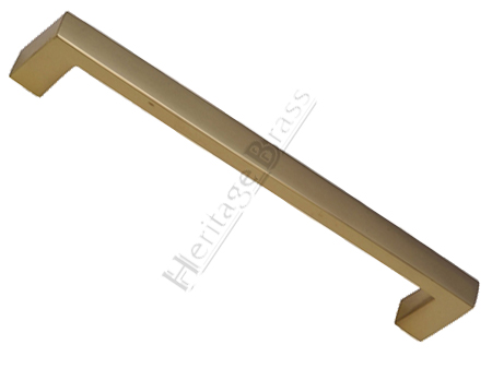 Heritage Brass Rectangular Pull Handle, Polished Brass - V2056-PB