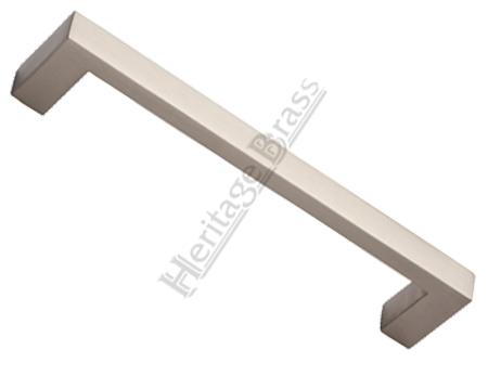Heritage Brass Rectangular Pull Handle, Satin Nickel - V2056-SN