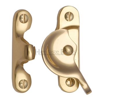 Heritage Brass Fitch Pattern Sash Fastener (66mm x 17mm), Polished Brass - V2060-PB