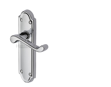 Heritage Brass Meridian Polished Chrome Door Handles - V300-PC (sold in pairs)