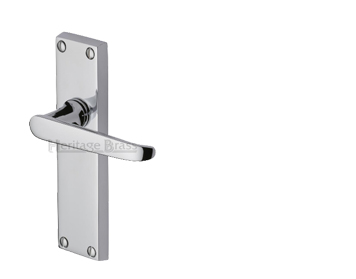 Heritage Brass Victoria Polished Chrome Door Handles - V3900-PC (sold in pairs)