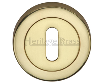 Heritage Brass 'Standard' Key Escutcheon, Polished Brass - V4000-PB