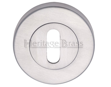 Heritage Brass 'Standard' Key Escutcheon, Satin Chrome - V4000-SC