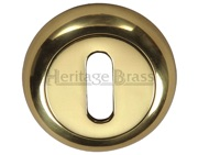 Heritage Brass Standard Key Escutcheon, Polished Brass - V4002-PB