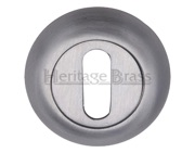 Heritage Brass Standard Key Escutcheon, Satin Chrome - V4002-SC