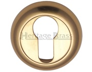 Heritage Brass Euro Profile Key Escutcheon, Polished Brass - V4004-PB