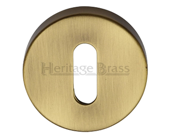 Heritage Brass 'Standard' Key Escutcheon, Antique Brass - V4007-AT