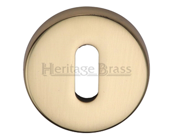 Heritage Brass 'Standard' Key Escutcheon, Polished Brass - V4007-PB