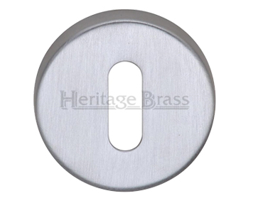 Heritage Brass 'Standard' Key Escutcheon, Satin Chrome - V4007-SC
