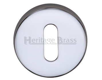 Heritage Brass 'Standard' Key Escutcheon, Polished Chrome - V4007-PC