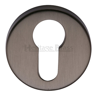 Heritage Brass 'Euro Profile' Key Escutcheon, Matt Bronze - V4008-MB