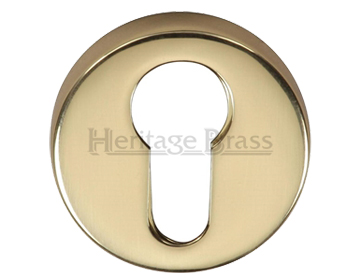 Heritage Brass 'Euro Profile' Key Escutcheon, Polished Brass - V4008-PB