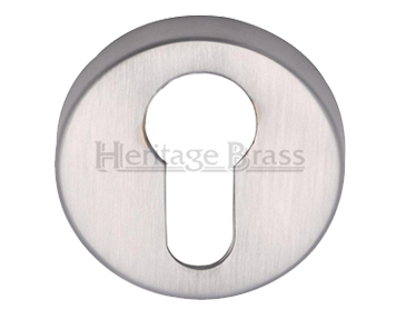 Heritage Brass 'Euro Profile' Key Escutcheon, Satin Chrome - V4008-SC