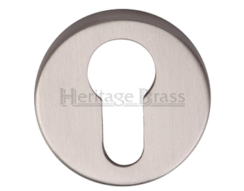 Heritage Brass 'Euro Profile' Key Escutcheon, Satin Nickel - V4008-SN