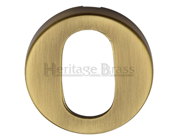 Heritage Brass 'Oval' Key Escutcheon, Antique Brass - V4009-AT