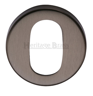 Heritage Brass 'Oval' Key Escutcheon, Matt Bronze - V4009-MB