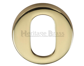 Heritage Brass 'Oval' Key Escutcheon, Polished Brass - V4009-PB