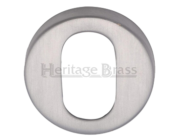 Heritage Brass 'Oval' Key Escutcheon, Satin Chrome - V4009-SC