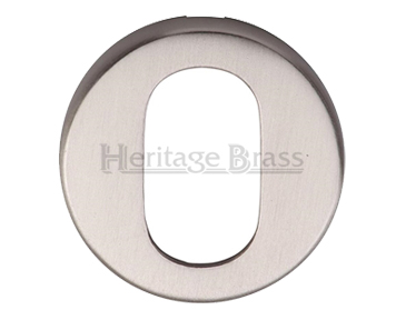 Heritage Brass 'Oval' Key Escutcheon, Satin Nickel - V4009-SN