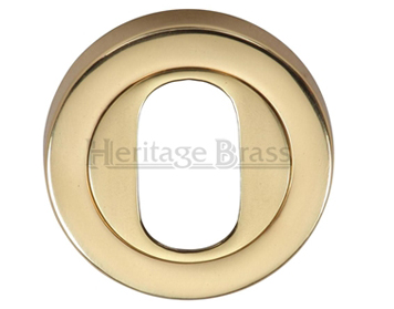 Heritage Brass 'Oval Profile' Key Escutcheon, Polished Brass - V4010-PB