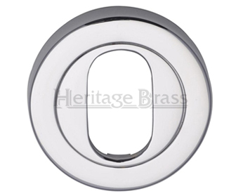 Heritage Brass 'Oval Profile' Key Escutcheon, Polished Chrome - V4010-PC