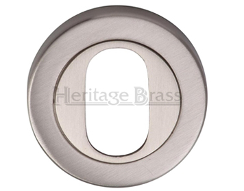 Heritage Brass 'Oval Profile' Key Escutcheon, Satin Nickel - V4010-SN