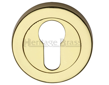 Heritage Brass 'Euro Profile' Key Escutcheon, Polished Brass - V4020-PB