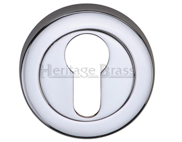 Heritage Brass 'Euro Profile' Key Escutcheon, Polished Chrome - V4020-PC