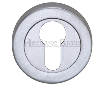 Heritage Brass 'Euro Profile' Key Escutcheon, Satin Chrome - V4020-SC