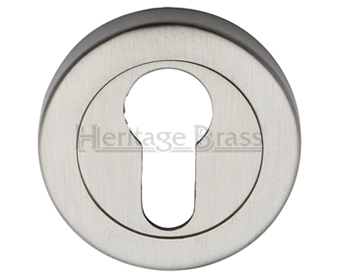 Heritage Brass 'Euro Profile' Key Escutcheon, Satin Nickel - V4020-SN
