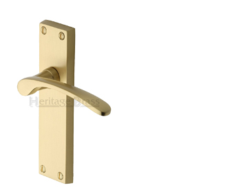 Heritage Brass 'Sophia' Satin Brass Door Handles - V4130-SB (sold in pairs)