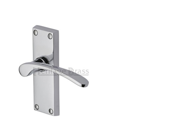 Heritage Brass Sophia Short Polished Chrome Door Handles - V4140-PC (sold in pairs)