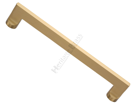 Heritage Brass 'Apollo' Pull Handles (279mm OR 432mm c/c), Satin Brass - VV4150-SB