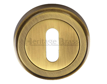 Heritage Brass 'Standard' Key Escutcheon, Antique Brass - V5000-AT