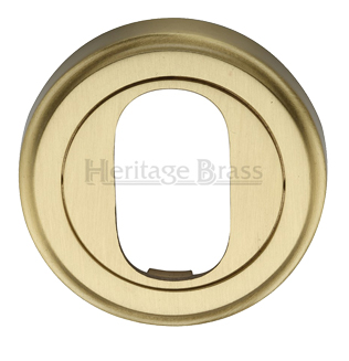 Heritage Brass 'Oval Profile' Key Escutcheon, Satin Brass - V5010-SB