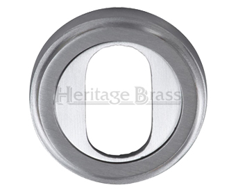 Heritage Brass 'Oval Profile' Key Escutcheon, Satin Chrome - V5010-SC