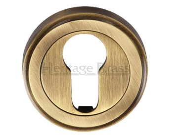 Heritage Brass 'Euro Profile' Key Escutcheon, Antique Brass - V5020-AT