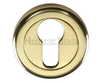 Heritage Brass 'Euro Profile' Key Escutcheon, Polished Brass - V5020-PB