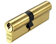 Zoo Hardware Vier Precision Euro Profile British Standard 5 Pin Offset Double Cylinders (Various Sizes), Polished Brass - V5EP3040DPBE