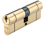 Zoo Hardware Vier Precision Euro Profile British Standard 5 Pin Double Cylinders (Various Sizes), Polished Brass - V5EP60DPBE