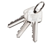 Zoo Hardware Master Key For Vier Precision 5-Pin Cylinders, Silver Nickel - V5MK